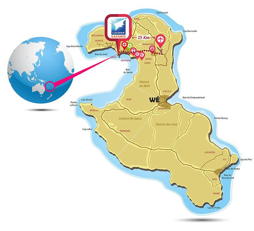 Map word Lagoon Safaris